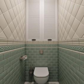 Отделка стен в маленьком туалете
