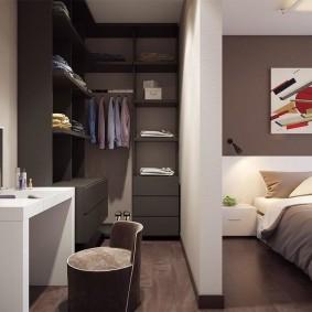 Легкая перегородка из гипсокартона в спальне