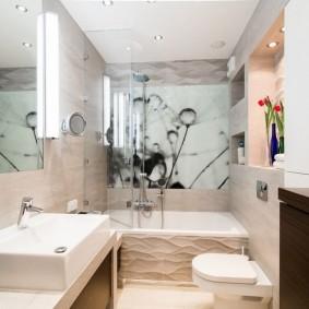 Современное оформление дизайна ванной комнаты
