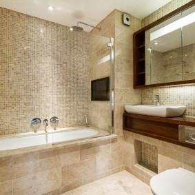 Встроенная ванна с закругленными углами