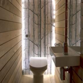Декоративное освещение в маленькой ванной