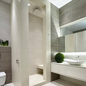 Капитальные перегородки в ванной с душевой кабиной