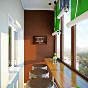 Рулонные шторы зеленого цвета