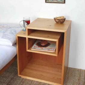 Каркасная модель тумбочки в спальню