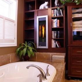 Встраиваемая мебель в ванной комнате