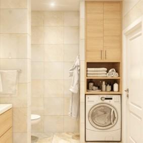 Светлая ванная комната с бытовой техникой