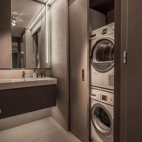 Раздвижной шкаф для стиральной и сушильной машины