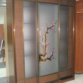 Купейный шкаф с матовыми стеклами