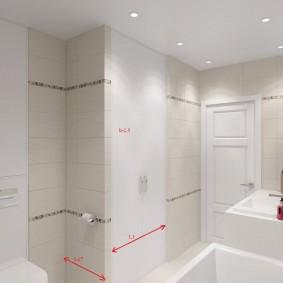 Размеры встроенного шкафа для ванной комнаты