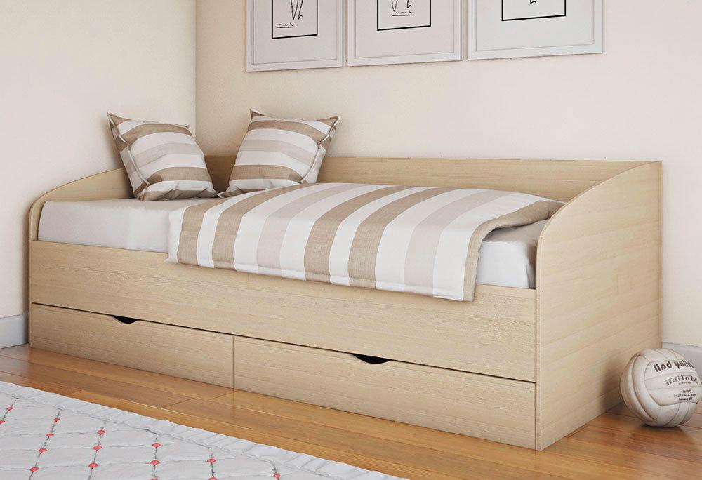 Детская кровать с удобными ящиками внизу