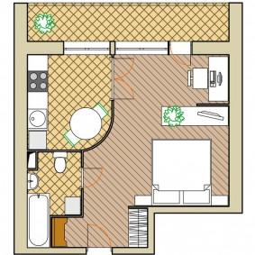 Варианты планировки интерьера квартиры брежневки