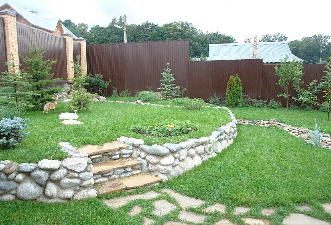 настоящее дизайн садового участка с сильным уклоном картинки выпечкой без нашей