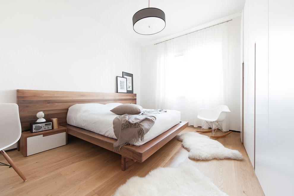 Использование массива дерева при оформлении спальни