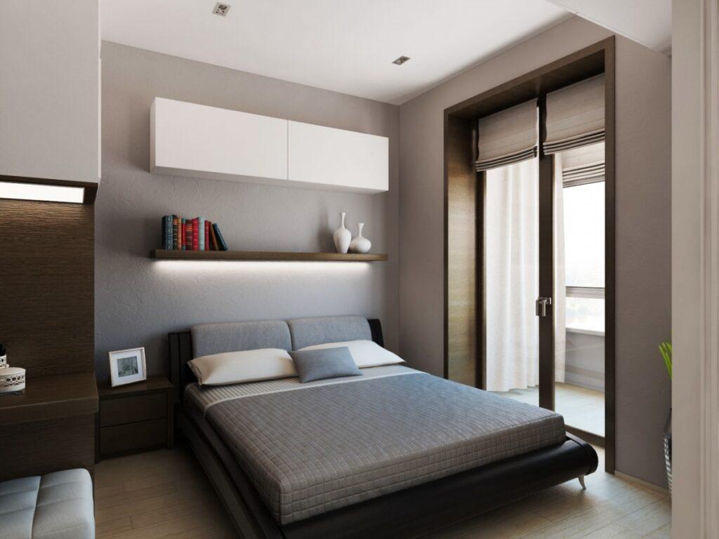 ремонт маленькой спальни с балконом