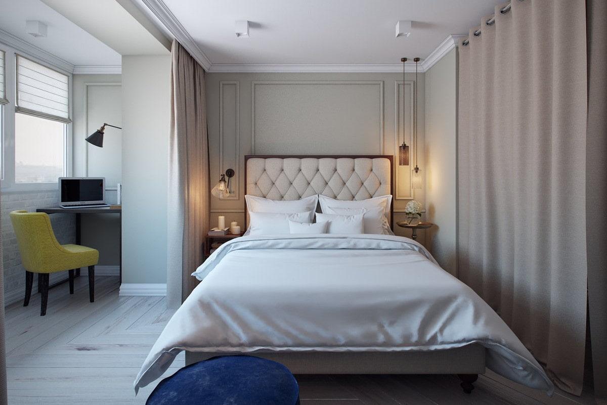маленькая спальня с лоджией