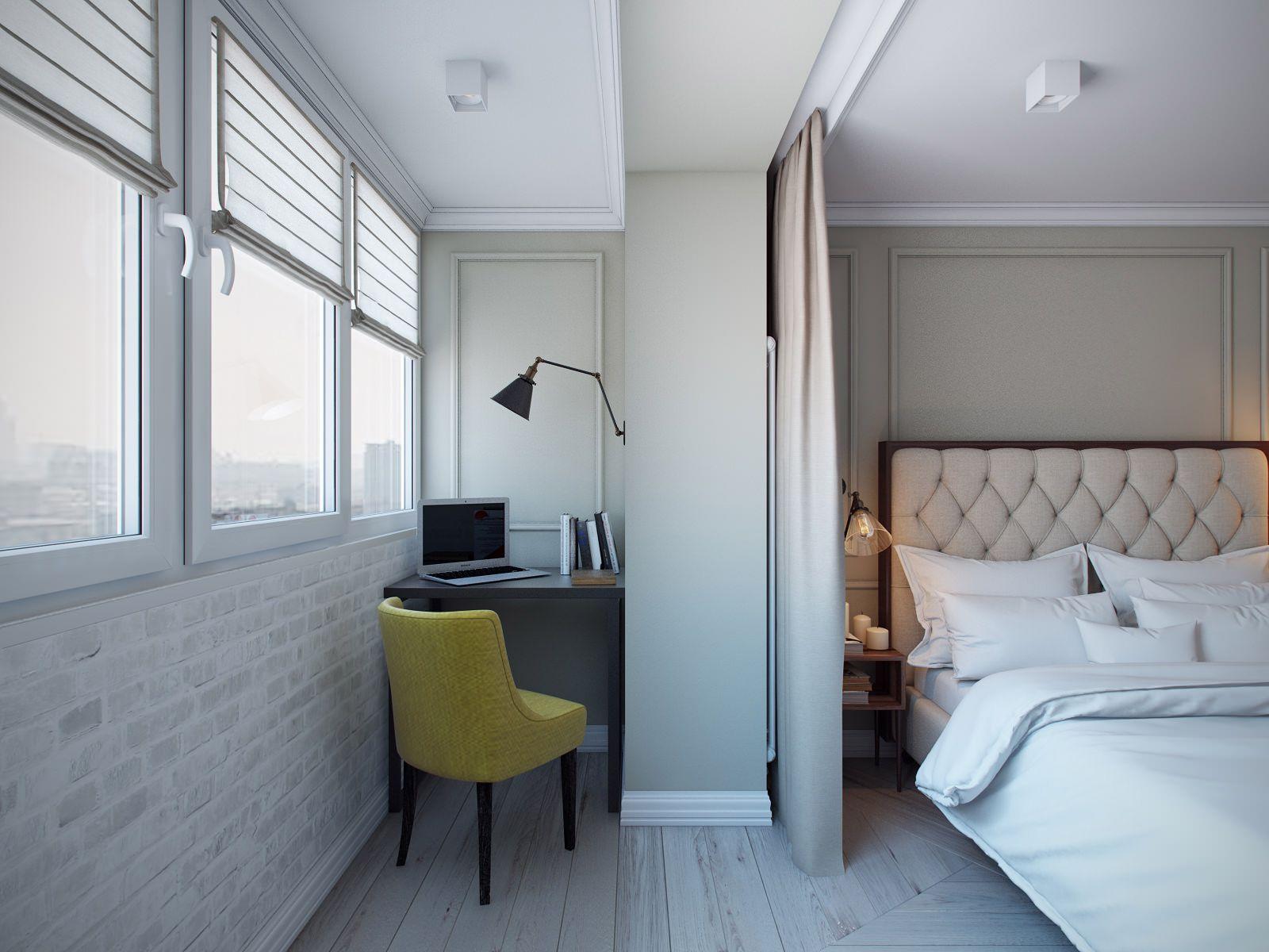 ремонт в маленькой спальне с балконом