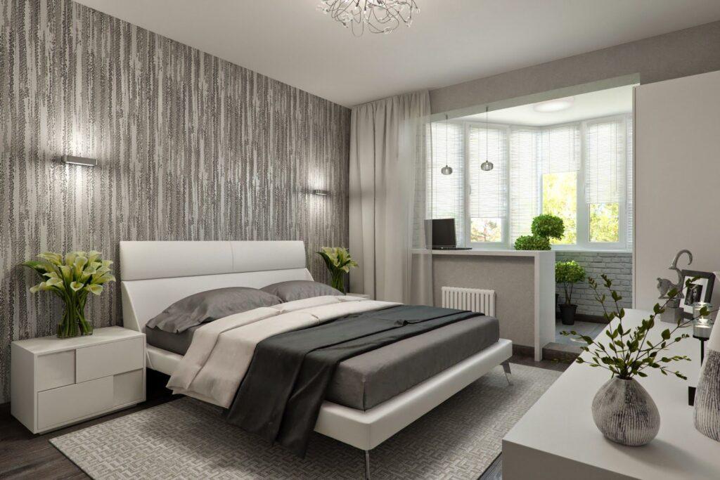 34220 Дизайн маленькой спальни с балконом: совмещать или нет