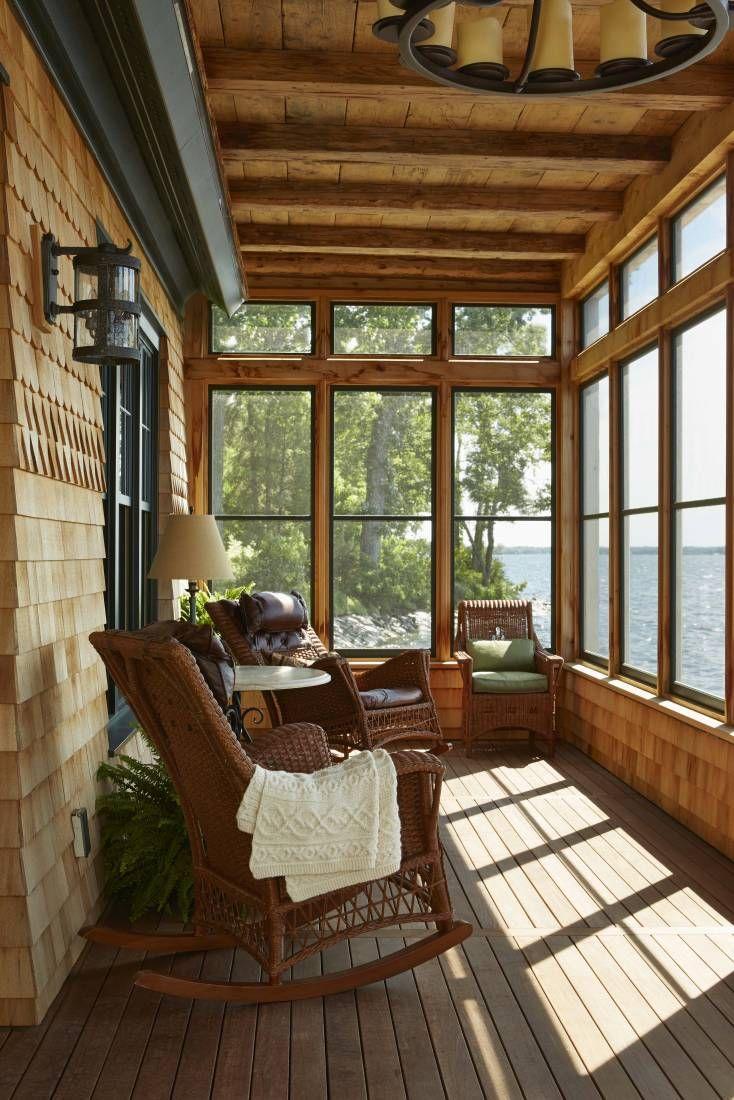 дизайн веранды с большими окнами