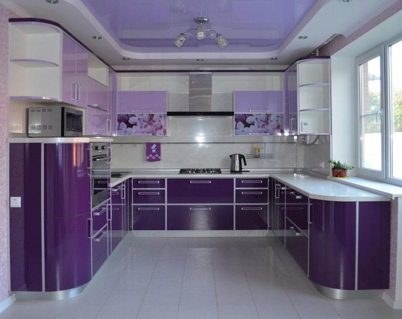 Кухня фиолетового цвета: правила сочетания в интерьере (75 фото дизайна)