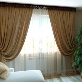 Плотные шторы в классическом интерьере