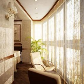 Утепленный балкон с окнами из ПВХ-профиля