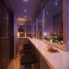 Освещение балконного пространства в квартире