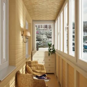 Дизайн балкона в пастельных тонах