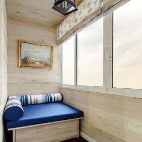 Балконный диванчик с ящиком для овощей