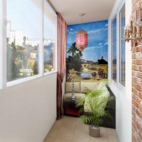 Декор обоями с фотопечатью интерьера балкона