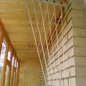 Внутренняя стена балкона из силикатного кирпича