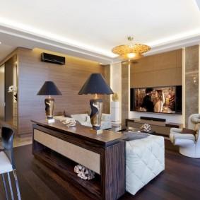 Ламинированный пол в однокомнатной квартире