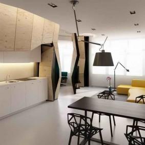 Необычная мебель с фасадами из фанеры