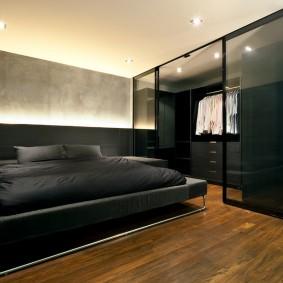Встроенный гардероб в спальной комнате