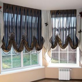 Полупрозрачные шторы с красивыми складками