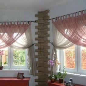 Легкие шторы из полупрозрачного тюля