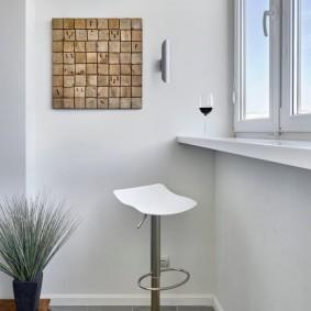 Деревянной панно квадратной формы