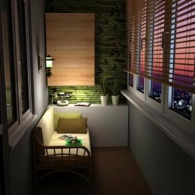 Романтическое освещение на остекленном балконе