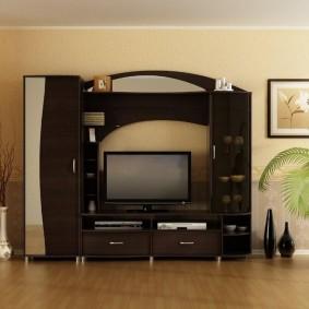 Мебель из ДСП в гостиной современного стиля