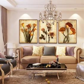 Дизайн гостиной комнаты в неоклассическом стиле