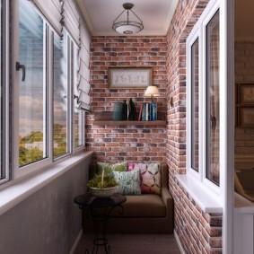 Индустриальный стиль в оформлении балкона