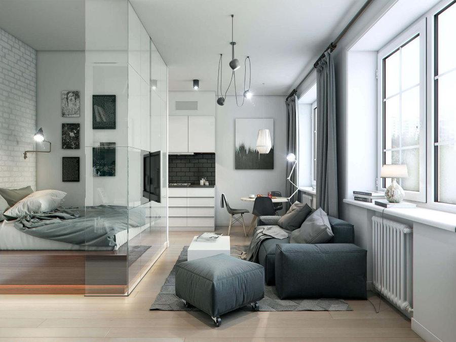 33903 Идеи и варианты красивого оформления дизайна квартиры-студии