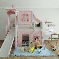 33780 Идеи по выбору вида и дизайна детских кроватей с горкой