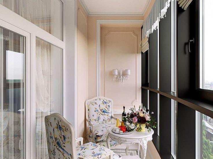 Оформление интерьера маленького балкона в стиле классики