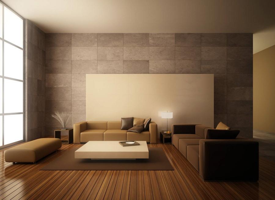 Сочетание отделочных материалов в минималистическом интерьере