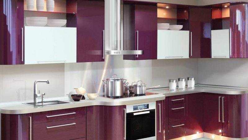 35104 Кухня фиолетового цвета: правила сочетания в интерьере (75 фото дизайна)