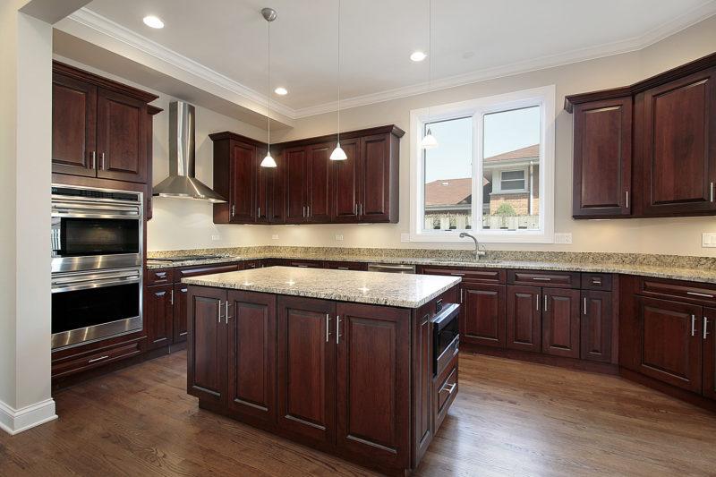 34841 Кухня цвета венге — элегантность и красота на 50 фото