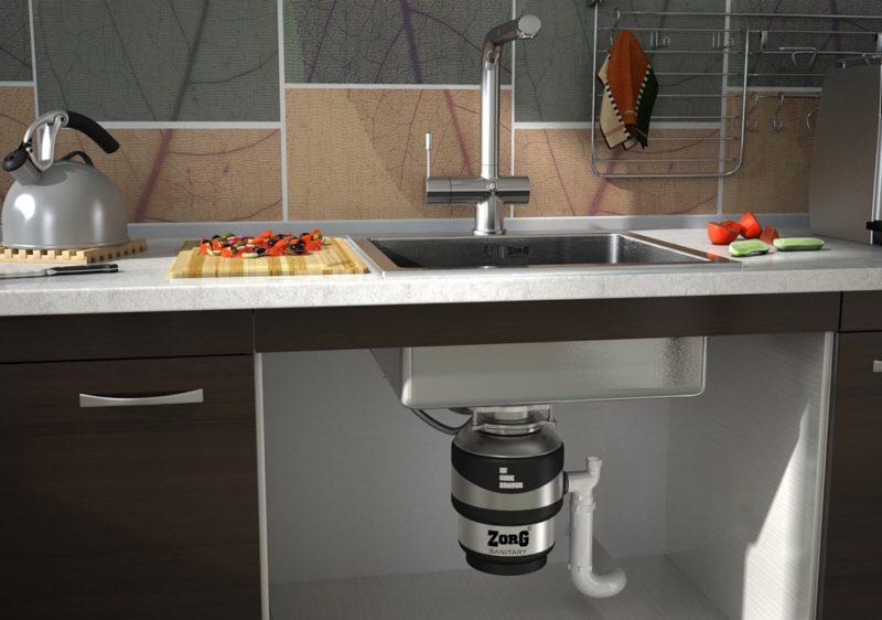 35351 Кухонный диспоузер – как выбрать правильно? Фото в интерьере