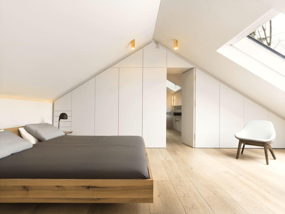 Освещение спальной комнаты в стиле минимализма
