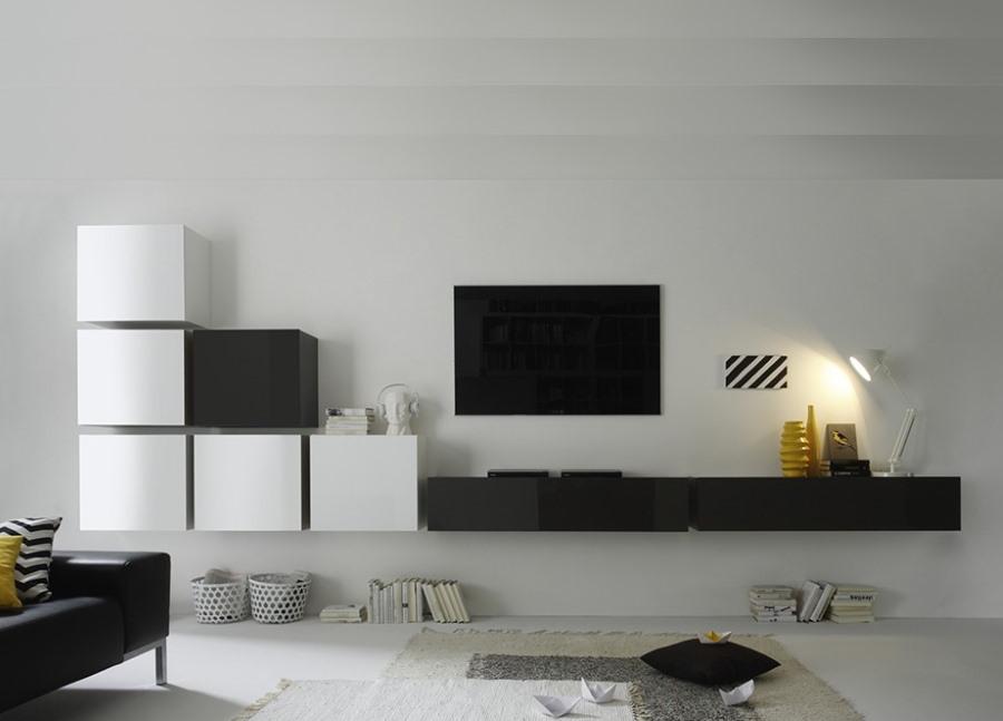 Модульная мебель для гостиной в стиле минимализма