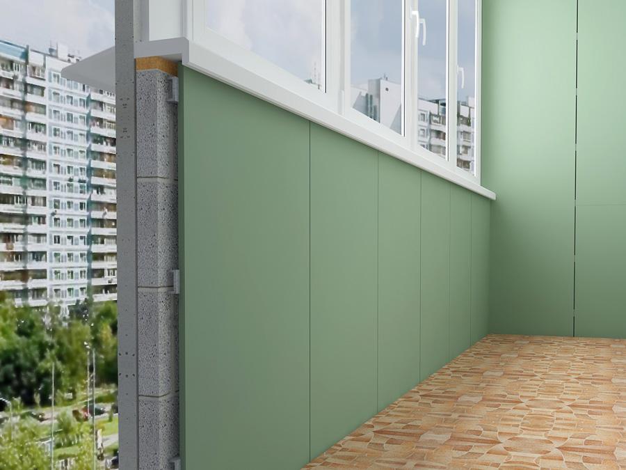 Схема обшивки гипсокартоном стены на лоджии
